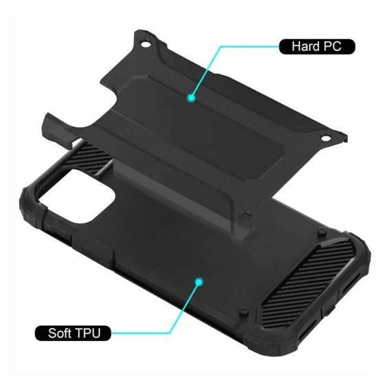 Etui Do Iphone 12 12 Pro Ochronne Solidne Czarne Karbon 2