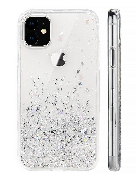 Etui Do Iphone 12 12 Pro Przeźroczyste Silikonowe Z Brokatem 8