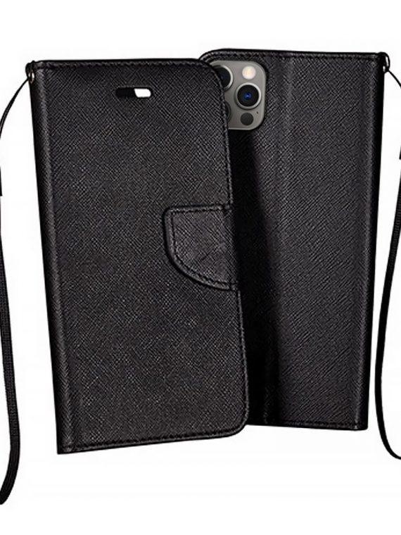 Etui Do Iphone 12 12 Pro Skorzane Ochronne Czarne 1