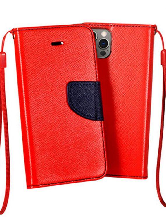 Etui Do Iphone 12 12 Pro Skórzane Ochronne Czerwono Granatowe