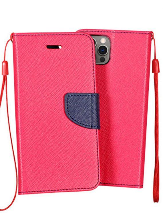Etui Do Iphone 12 12 Pro Skórzane Ochronne Różowe Granatowe
