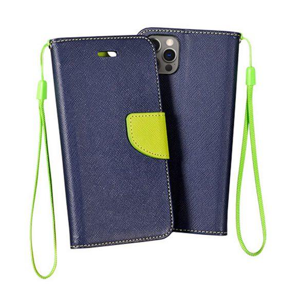 Etui do iPhone 12 Pro trwałe ochronne granatowo-limonkowe