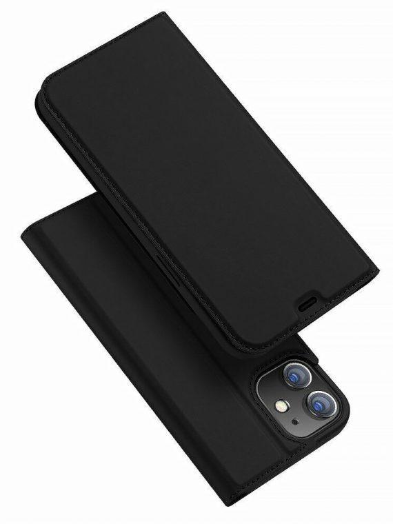 Etui Do Iphone 12 12 Pro Z Klapką Eleganckie Czarne
