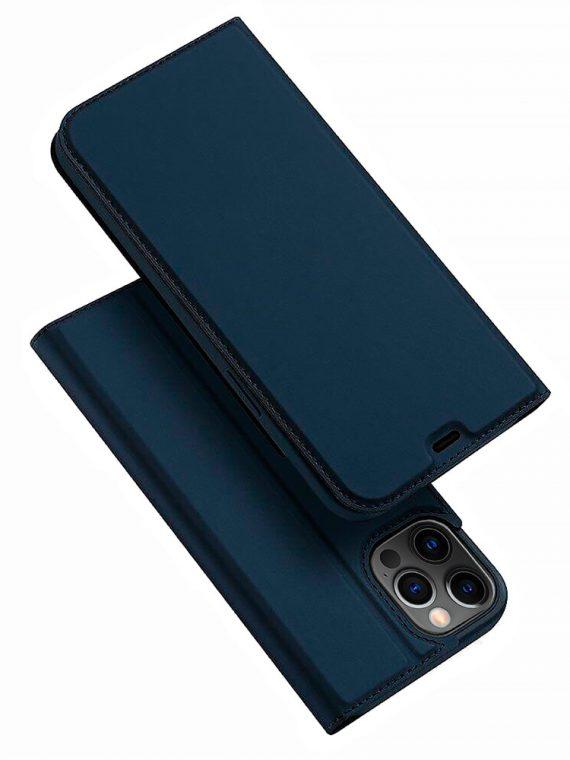Etui Do Iphone 12 12 Pro Z Klapka Eleganckie Granatowe