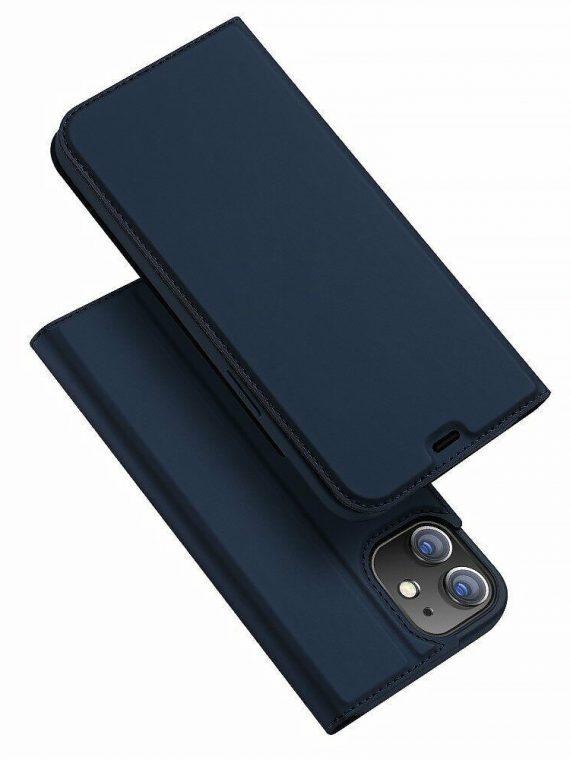 Etui Do Iphone 12 12 Pro Z Klapką Eleganckie Granatowe