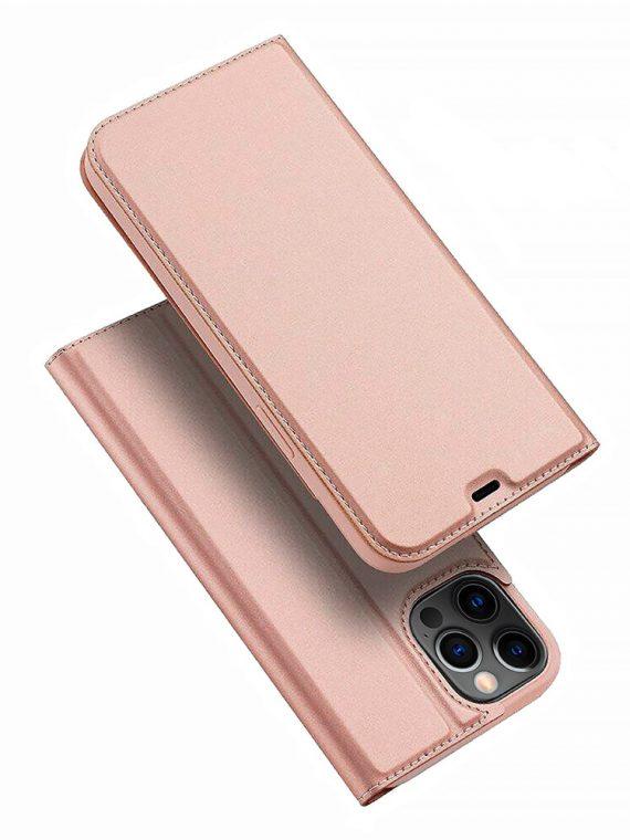Etui Do Iphone 12 12 Pro Z Klapka Eleganckie Rozowe