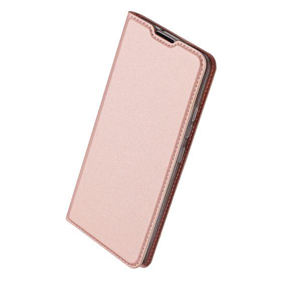 Etui do iPhone 12 Mini z klapką eleganckie różowe