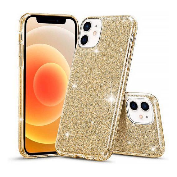 Etui do iPhone 12 Mini brokatowe silikonowe złote