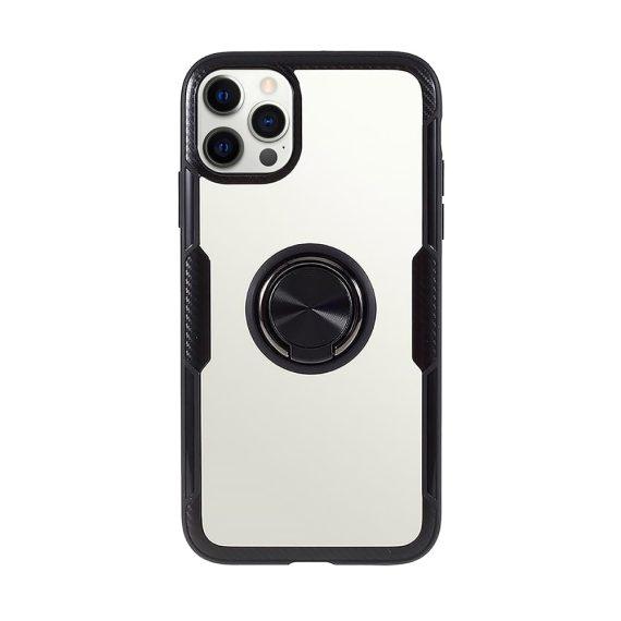 Obudowa iPhone 12 Pro Ring Armor pancerne hybrydowe etui pokrowiec + magnetyczny uchwyt