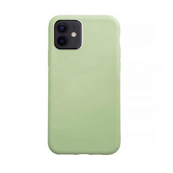 Etui do iPhone 12 Mini silikonowe z mikrofibrą premium soft touch zielone