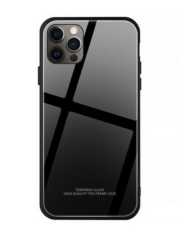 Etui Do Iphone 12 12 Pro Szkło Hartowane Czarne