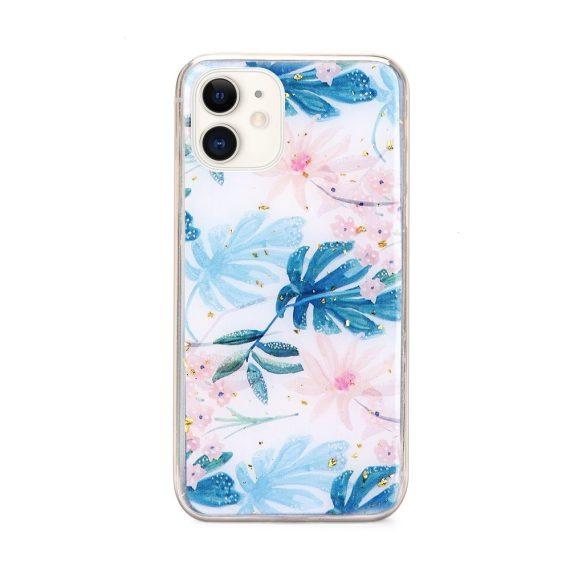 Etui do iPhone 12 Mini eleganckie z kolorowymi liśćmi
