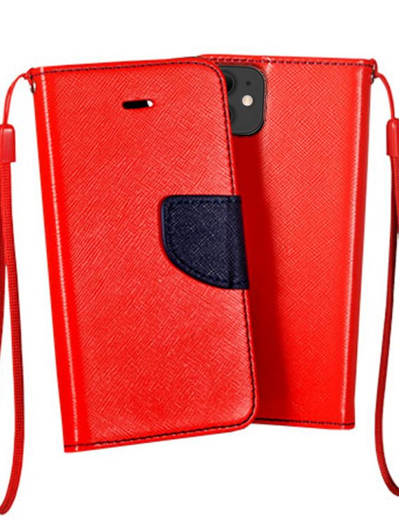 Etui Iphone 11 Zamykane Czerwono Granatowe 1