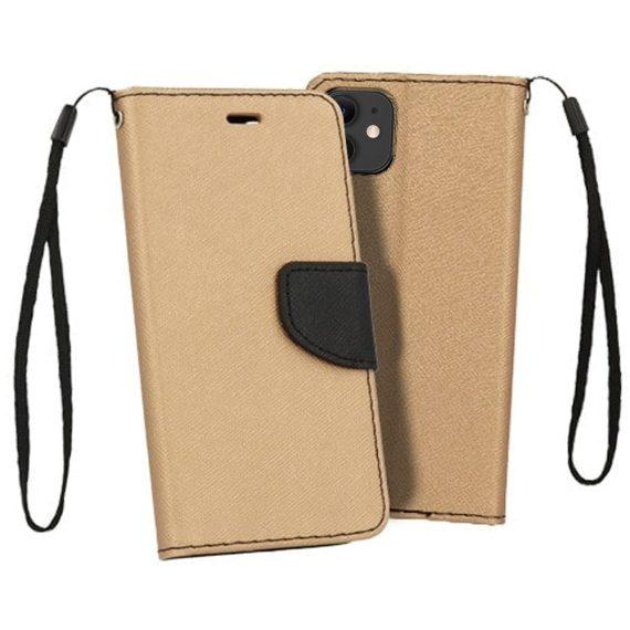 Etui do iPhone 12 Mini trwałe ochronne złoto-czarne