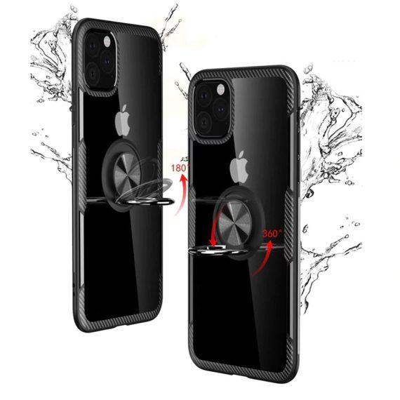etui iphone 12 pro max z uchwytem ring pancerne czarne