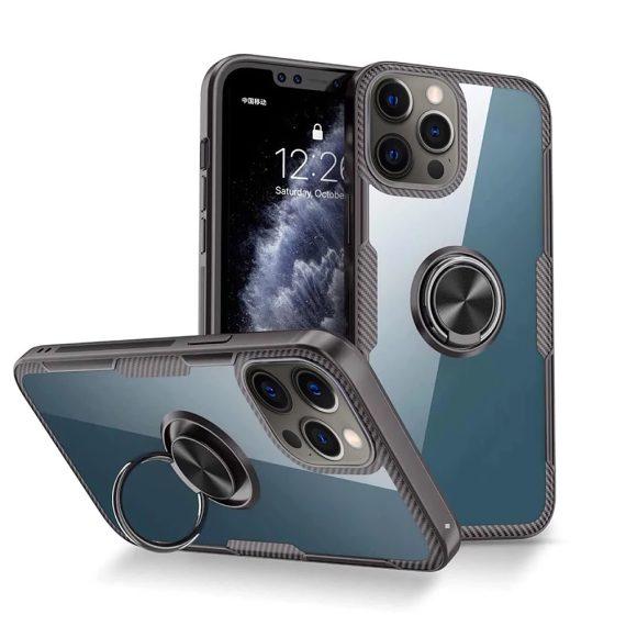 Etui do iPhone 12 Pro Max Ring Armor pancerne hybrydowe etui pokrowiec + magnetyczny uchwyt