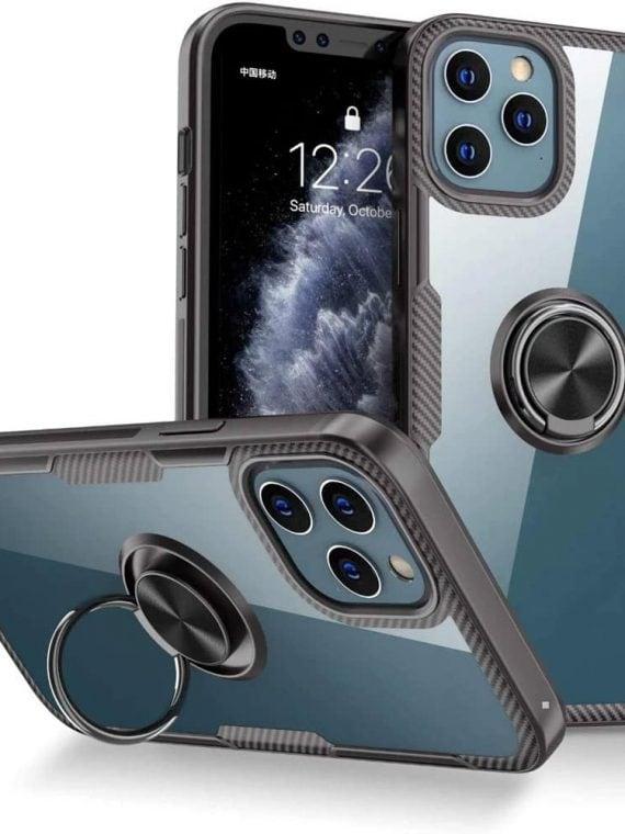 etui iphone 12 pro max z uchwytem ring pancerne czarne 2