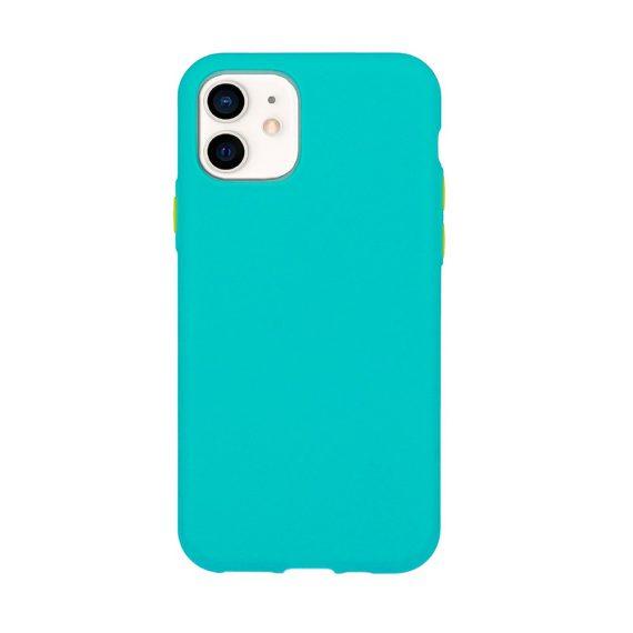 Etui do iPhone 12 Mini silikonowe elastyczne z kolorowymi przyciskami fancy zielone