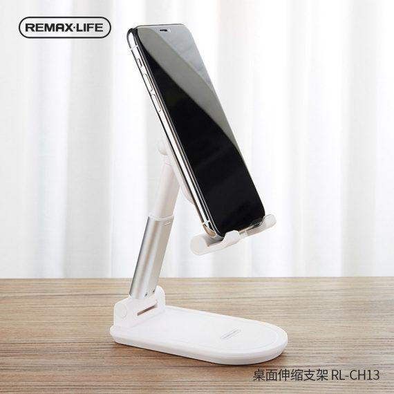 Podstawka, stojak na telefon, tablet biała na biurko