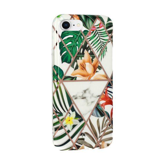 Etui do iPhone SE2020/8/7 egzotyczne rośliny złote wzory