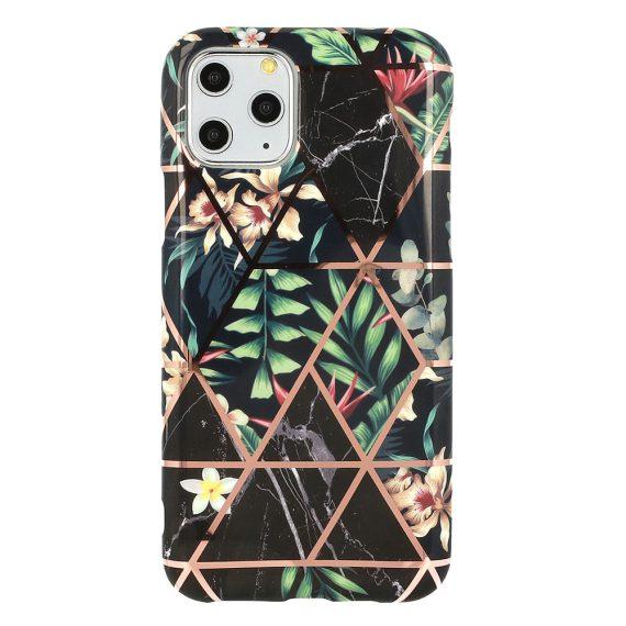 Etui do iPhone 6/6S dżungla ze złotymi wzorami