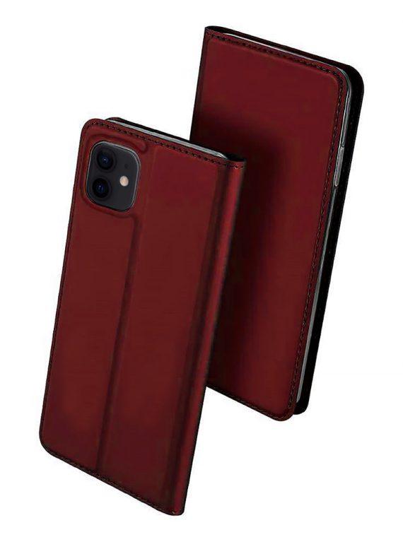Etui Iphone 12 12 Pro Zamykanie Wisniowe 4