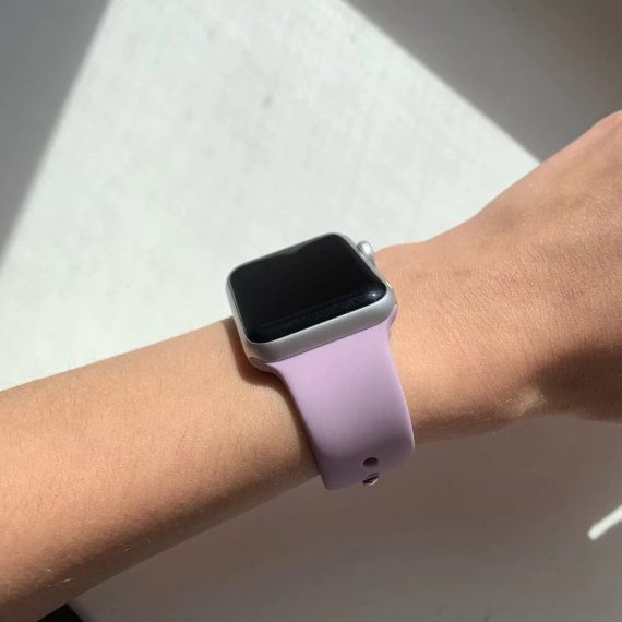 Bright Silicone Apple Watch Band Light Purple Review Photo 5 V1