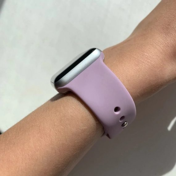 Bright Silicone Apple Watch Band Light Purple Review Photo 6 V1