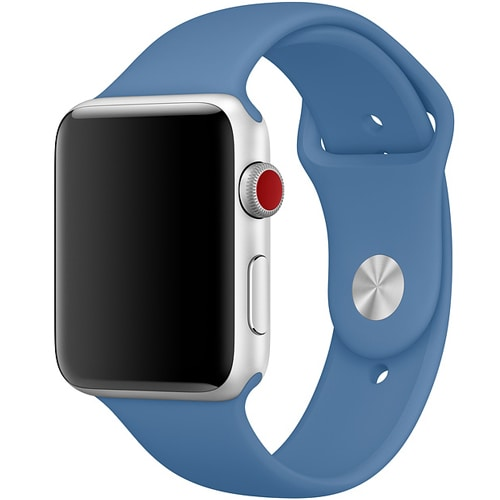 Sportowy pasek silikonowy do zegarka Apple Watch SE/6/5/4/3 42/44mm – marengo niebieski