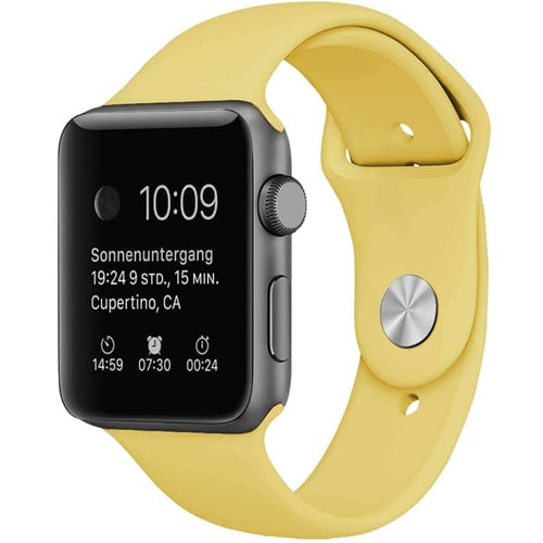 Apple Watch Smartwatch Pudrowy żółty
