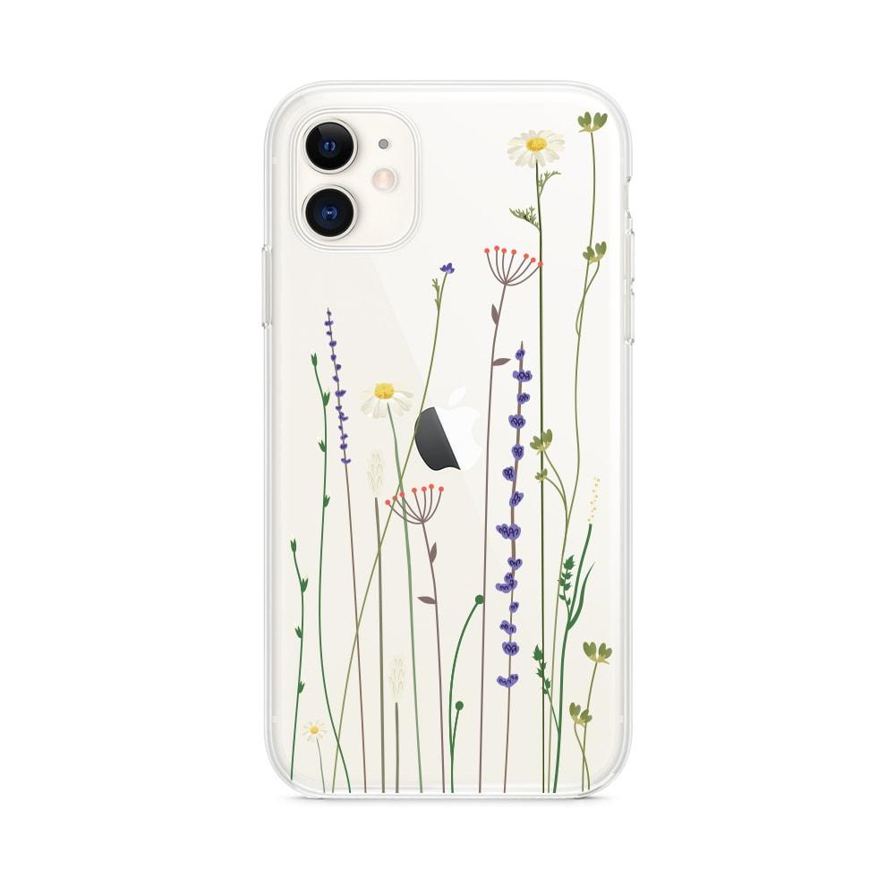 Etui Iphone 11 Przeźroczyste Z Nadrukiem Kwiaty 1