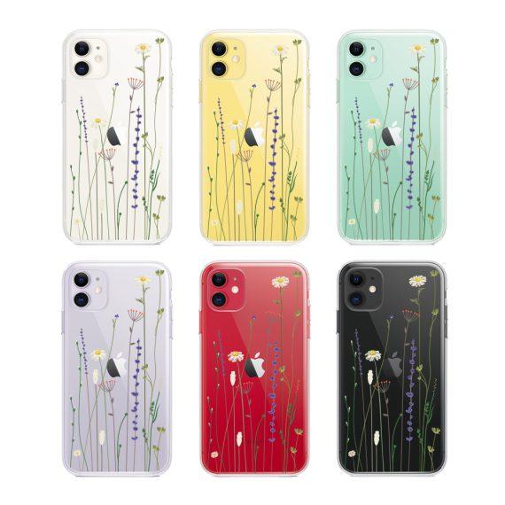 Etui Iphone 11 Przeźroczyste Z Nadrukiem Kwiaty 2