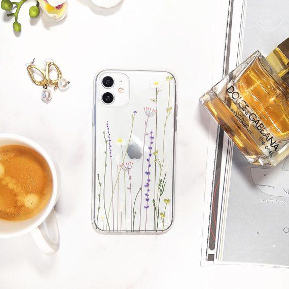 Etui Iphone 11 Przeźroczyste Z Nadrukiem Kwiaty 5