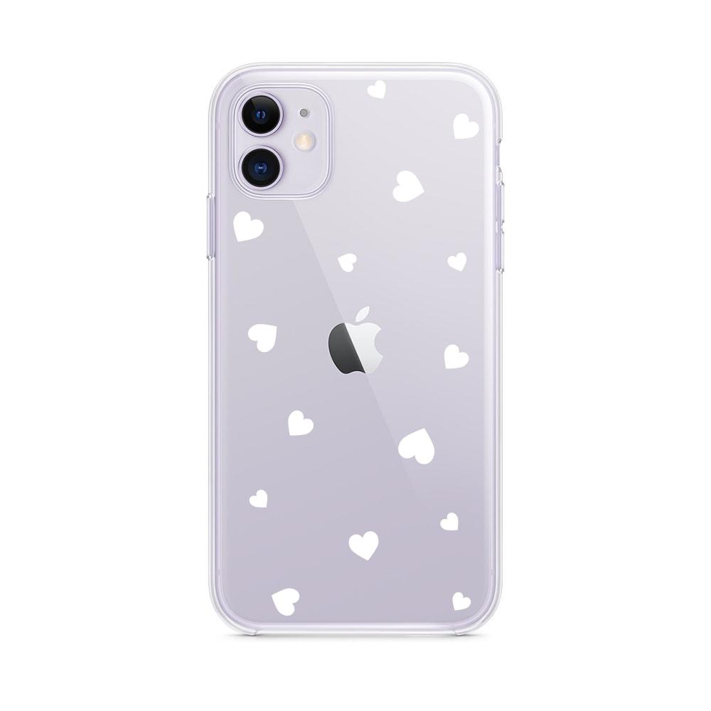 Etui Iphone 11 Przeźroczyste Z Nadrukiem Serduszka 11