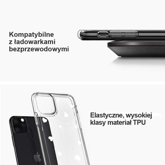 Etui Iphone 11 Przeźroczyste Z Nadrukiem Serduszka 4