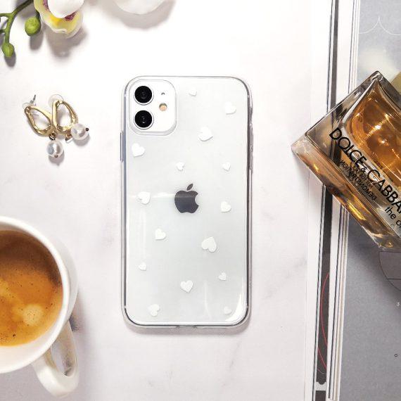 Etui Iphone 11 Przeźroczyste Z Nadrukiem Serduszka 5