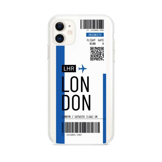 Etui Iphone 11 Przeźroczyste Z Nadrukiem Ticket 1