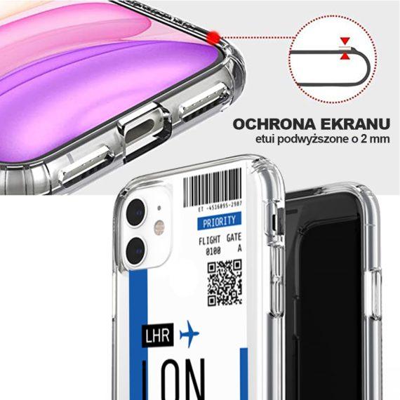 Etui Iphone 11 Przeźroczyste Z Nadrukiem Ticket 3
