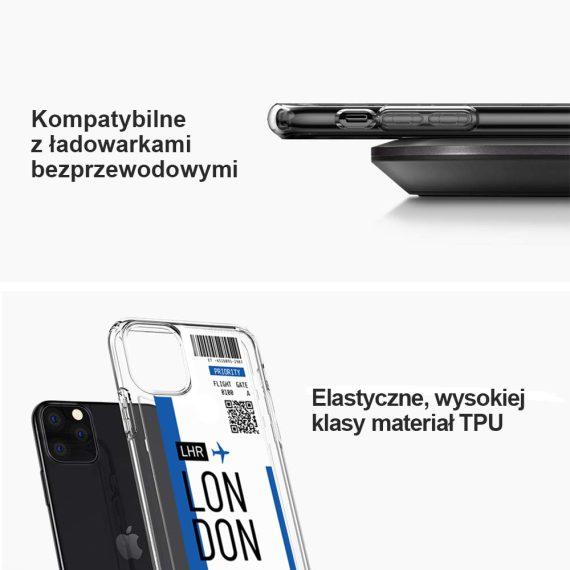 Etui Iphone 11 Przeźroczyste Z Nadrukiem Ticket 4