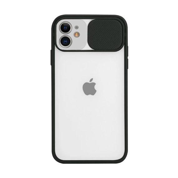 Etui do iPhone 11 z ochroną aparatu silikonowe czarne