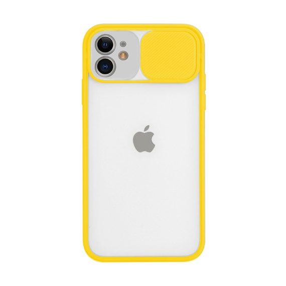 Etui do iPhone 11 z ochroną aparatu silikonowe żółte