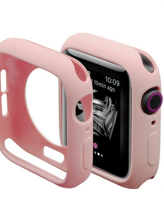 Silikonowa Obudowa Do Apple Watch Pudrowy Róż 2