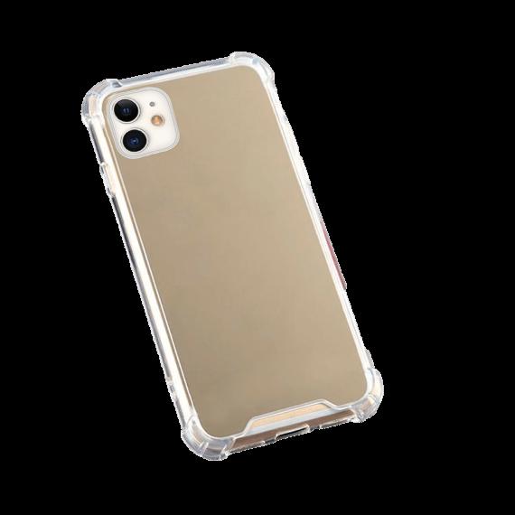 Etui do iPhone 11 stylowe złote lustro ze wzmacnianymi bokami