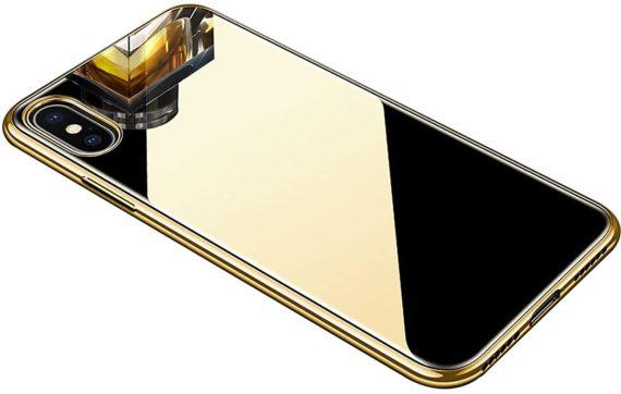 Etui do iPhone X/XS  lusterko mirror elastyczne
