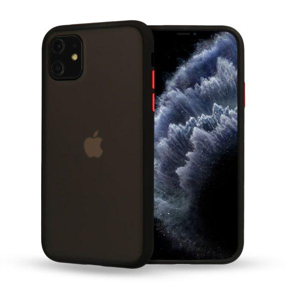 Etui do iPhone 12 Mini czarne silikonowe z kolorowymi przyciskami