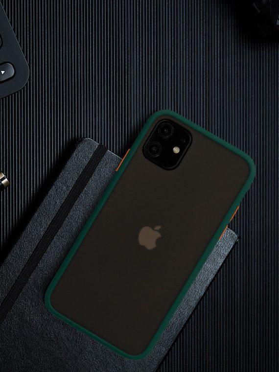 Color Button Green 8 D