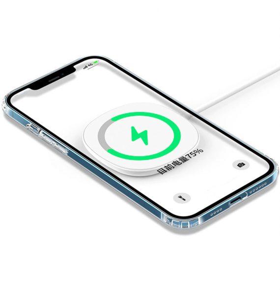 etui iphone 12 silikonowe przezroczyte mag safe5 987x1024
