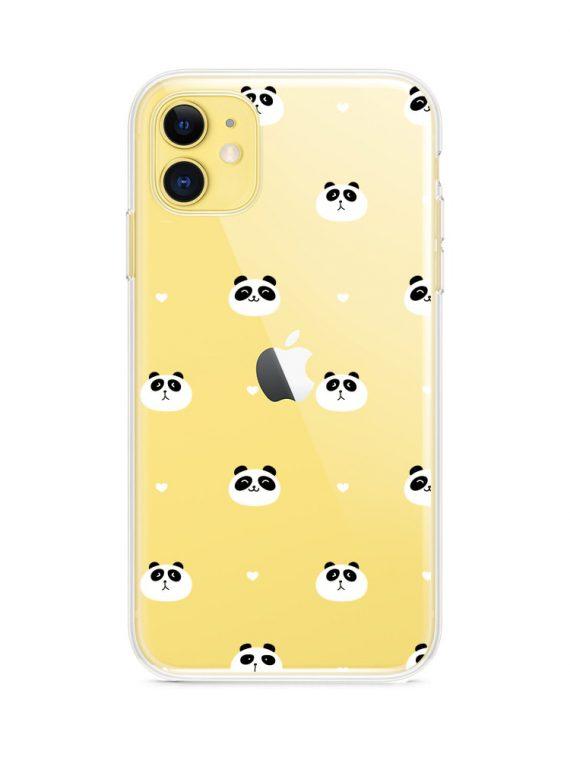 Etui Z Nadrukie Iphone 11 Przezrocyste Panda Mis