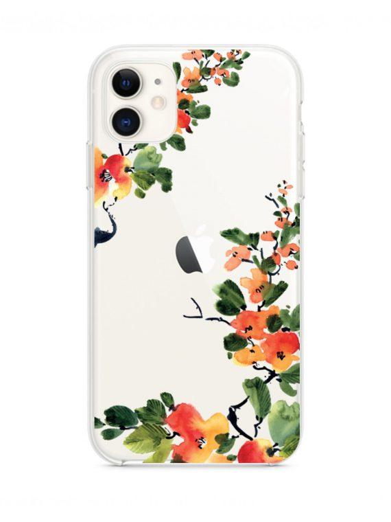 Mock U Iphone 11 Przezrocyste Piękny Kwiat