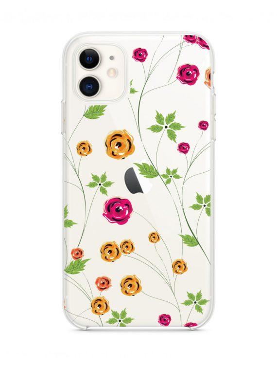 Mock U Iphone 11 Przezrocyste Z Nadrukiem Kwiatki1